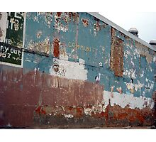 Peeling Paint Photographic Print
