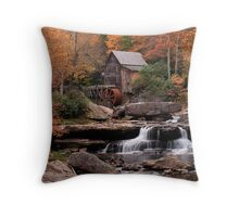 Glade Creek at Babcock State Park Throw Pillow