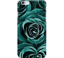 Rose Bouquet in Turquoise iPhone Case/Skin