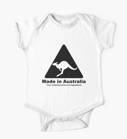 Made In Australia (Black) One Piece - Short Sleeve