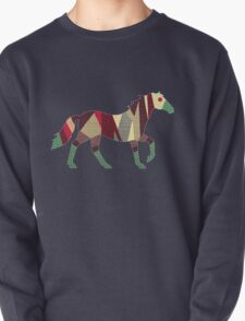 patchwork horse Pullover