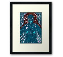 CHOCOLATE BLUE RAINFOREST Framed Print