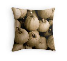 Denim Commercial Pumpkins Throw Pillow