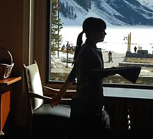 A Work Space ~ Lake Louise Window Series by Barbara Burkhardt
