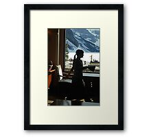 A Work Space ~ Lake Louise Window Series Framed Print