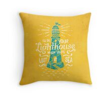 Lost At Sea II. Throw Pillow