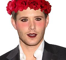 Jensen Ackles Wearing Makeup and a Flower Crown by brokennightmare