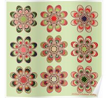 Watermelon Foot Flowers Poster