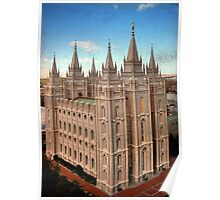 Salt Lake Temple - Heaven's View Poster