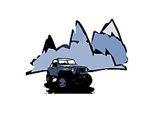 Jeeping It!: BLUE Photographic Print