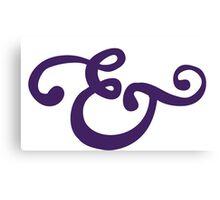 Purple Ampersand Canvas Print