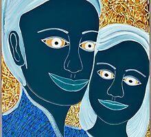 TWO PRETTY BLUE LADIES by JaneAParis