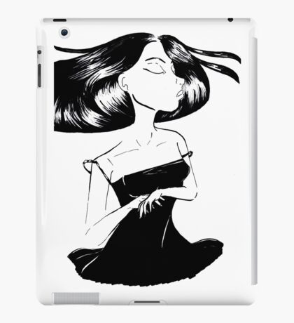 Lush Haired Girl iPad Case/Skin