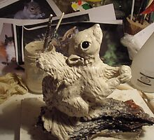 Making a sculpture Stage 5. Looking like a Squirrel by Alex Gardiner