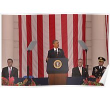 President Barack Obama at Arlington National Cemetery Poster