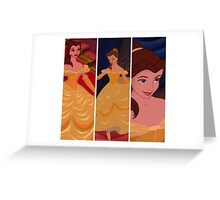 Belle Disney collage Greeting Card