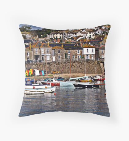 """Cornish Harbours"" Throw Pillow"