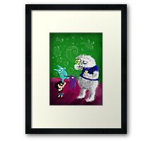 Yeti's Bubbles Framed Print