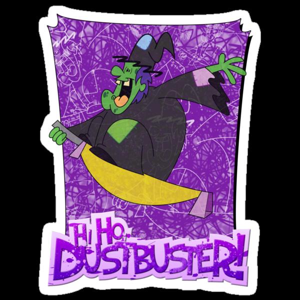 Halloween T-Shirt 2009 - Hi Ho Dustbuster by Sketchaholic