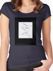 """I Saw a Bird Catch the Wind...""  Women's Fitted Scoop T-Shirt"