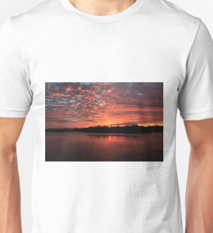 Sunrise over the wildlife refuge Unisex T-Shirt