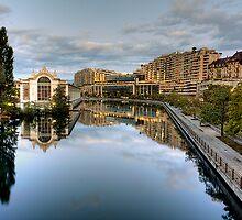 River Rhone leaving Geneva by David Freeman