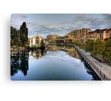 River Rhone leaving Geneva Canvas Print