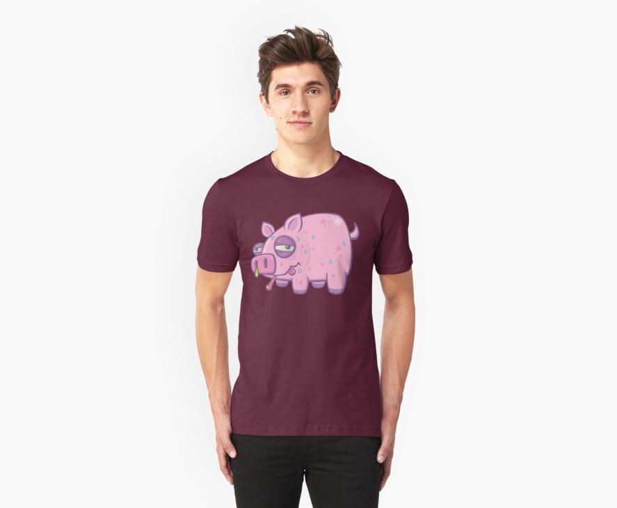 Cartoon Swine Flu Pig by fizzgig