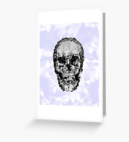 Shattered Skull Greeting Card