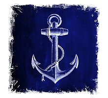 Rustic beach sailor fashion Navy blue anchor nautical  by lfang77