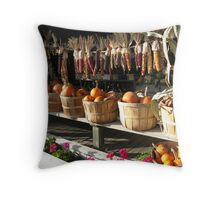 Harvest Home at Tower's Market ~ Youngstown, NY Throw Pillow