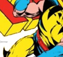 Wolverine Retro Comic X-Men Sticker