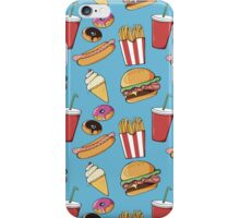 Fast-food pattern iPhone Case/Skin