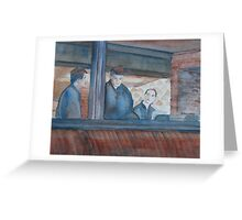 Three Waiters Waiting Greeting Card