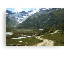 Pathway in Fextal, Switzerland  Canvas Print