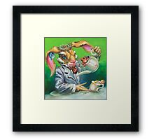 March Hare at the Tea Party Framed Print
