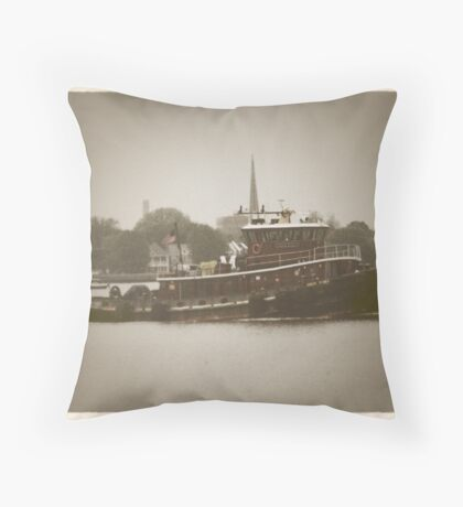 Tugboat Throw Pillow