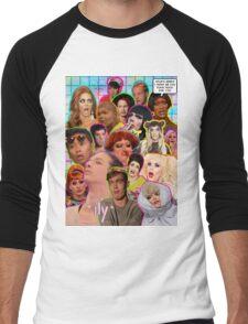 Rpdr Funny queen faces  Men's Baseball ¾ T-Shirt