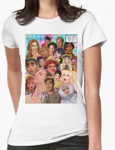 Rpdr Funny queen faces  Womens Fitted T-Shirt