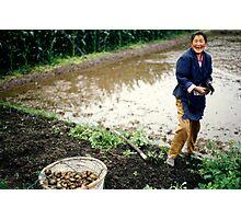 Female Chinese Farmer Photographic Print