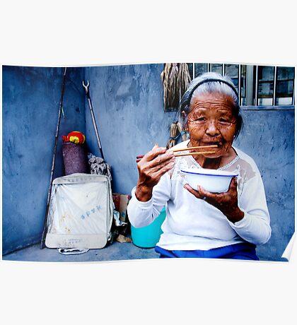 Wrinkled Chopsticks Poster