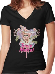 Trixie Mattel <3 Women's Fitted V-Neck T-Shirt