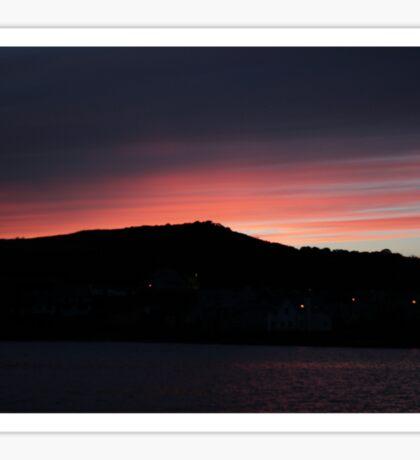 Twilight Sky: Coastal Sunset, Ireland Sticker