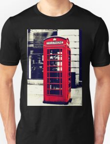 Red British Telephone Booth in London Unisex T-Shirt