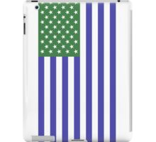 Green & Blue American Flag iPad Case/Skin