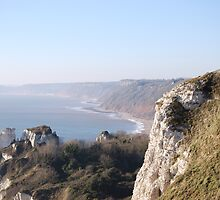 Cliffs and View by Claire Elford