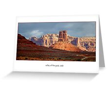 Valley of the Gods, Utah  (card) Greeting Card