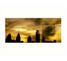Philadelphia Skyline Horizon Art Print