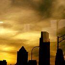 Philadelphia Skyline Horizon by A L G O