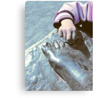 Hand and foot... Canvas Print